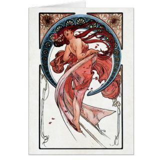Dance by Alfons Mucha 1898 Card