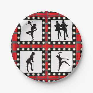 Dance Cabaret Showgirls Dancing Paper Plate