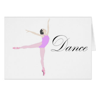 dance stationery note card