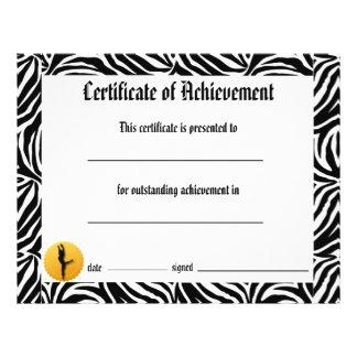 Dance Certificate of Achievement -Zebra Lyrical Flyers