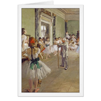 Dance Class by Edgar Degas Card