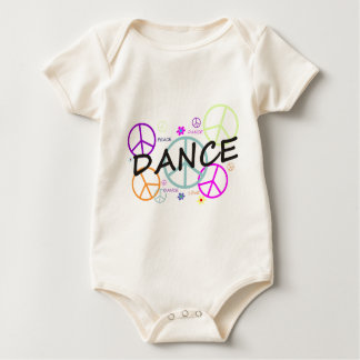 Dance Colored Peace Signs Baby Bodysuit