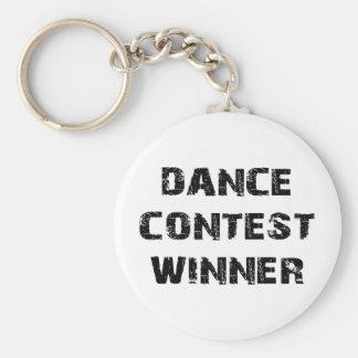 Dance Contest Winner Basic Round Button Key Ring