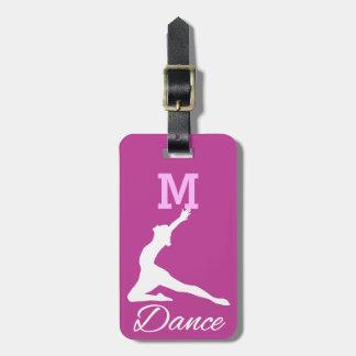 DANCE custom luggage tag