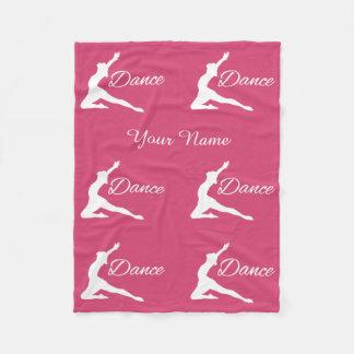 DANCE custom name & color fleece blanket