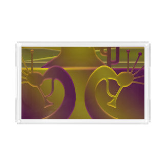 Dance Dance of the Gods in Purple & Gold Acrylic Tray