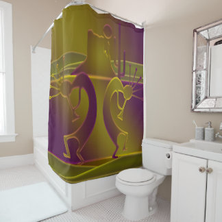 Dance Dance of the Gods in Purple & Gold Shower Curtain