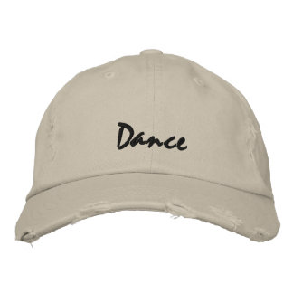 Dance Dark Text Baseball Cap
