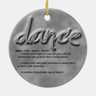 Dance Definition Ceramic Ornament