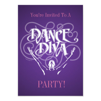 Dance Diva Invitation