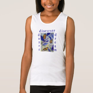 Dance Dream  Butterfly Girl's Tank Top