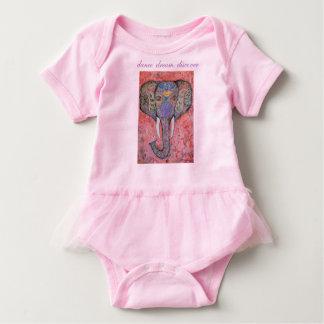 Dance Dream Discover Elephant Art Baby Tutu Baby Bodysuit