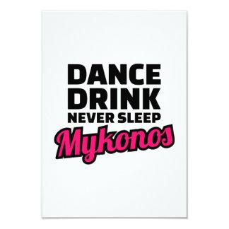 Dance drink never sleep card