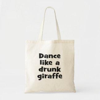 Dance drunk giraffe bf budget tote bag