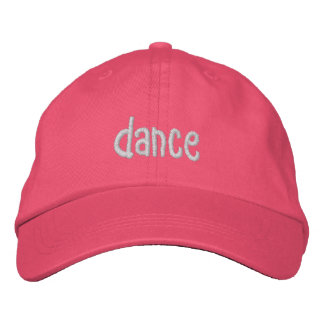 dance embroidered cap