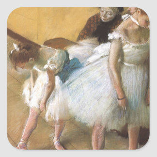 Dance Examination by Edgar Degas, Vintage Ballet Square Sticker