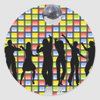 Dance Fever Round Sticker