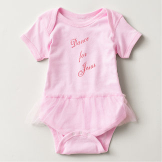 Dance for Jesus Tutu Onsie Baby Bodysuit