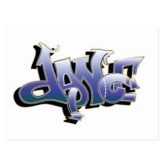 Dance Graffiti Postcard
