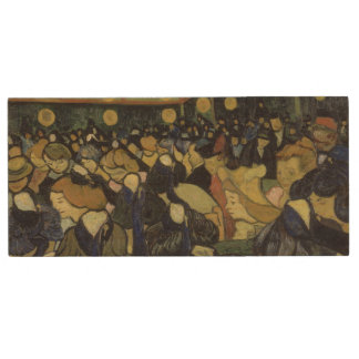 Dance Hall in Arles by Vincent Van Gogh Wood USB 2.0 Flash Drive
