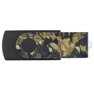 Dance Hall in Arles by Vincent Van Gogh Swivel USB 2.0 Flash Drive