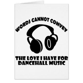 Dance hall Music designs Card