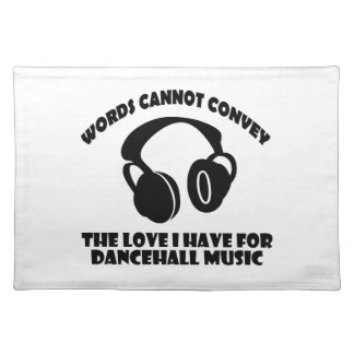 Dance hall Music designs Placemat