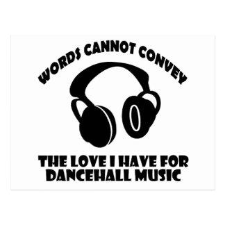 Dance hall Music designs Postcard