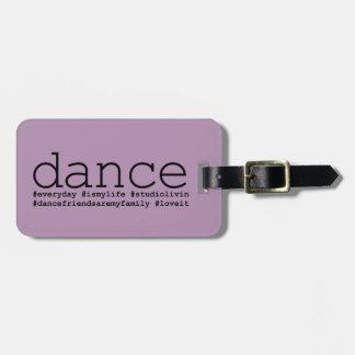 Dance Hashtags Luggage Tag