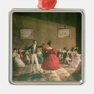 Dance in a Salon in Buenos Aires, c.1831 (w/c on p Metal Ornament