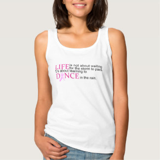 Dance in the Rain Breast Cancer Awareness Tank Top