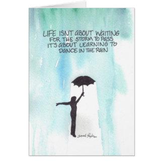 Dance In The Rain Greeting Card