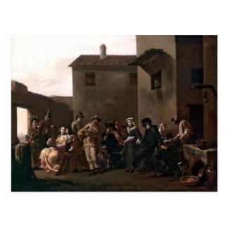 Dance In The Trattoria by Michelangelo Cerquozzi Postcard