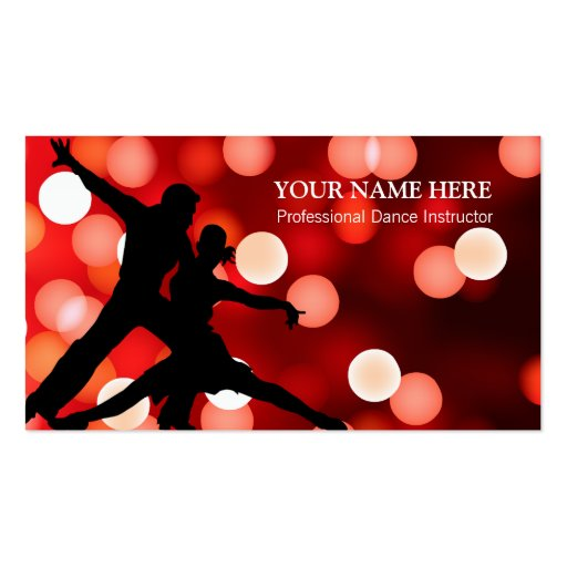 Dance Instructor Business Card Template