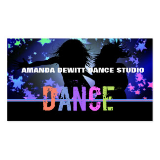 Dance Instructor Business Cards