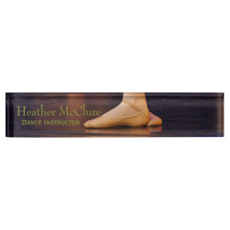 Dance Instructor Desk Nameplate