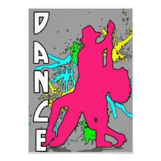 Dance 13 Cm X 18 Cm Invitation Card
