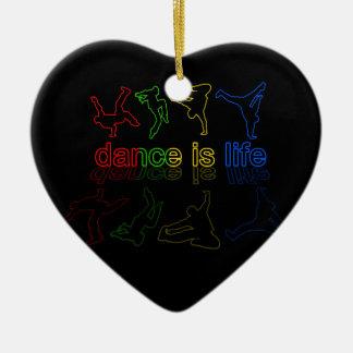 Dance is life ceramic ornament