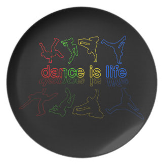 Dance is life plate