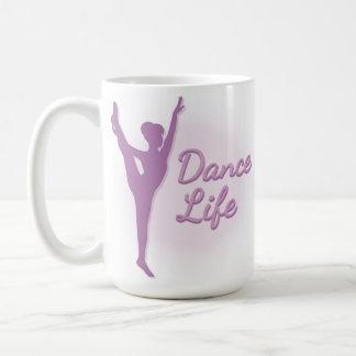 Dance Life Ballerina - Purple - Basic White Mug