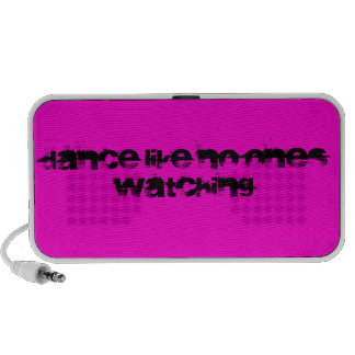 Dance Like No One s Watching Text - Pink Travel Speakers