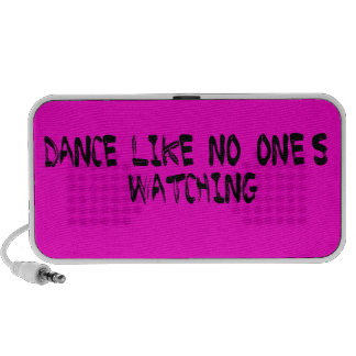 Dance Like No One s Watching Text - Pink Notebook Speakers