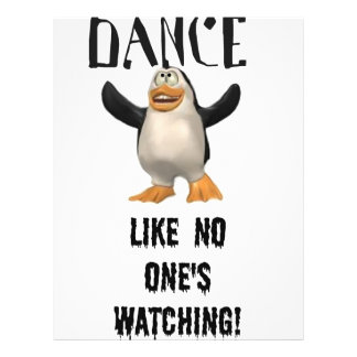 Dance...Like No One's Watching! 21.5 Cm X 28 Cm Flyer