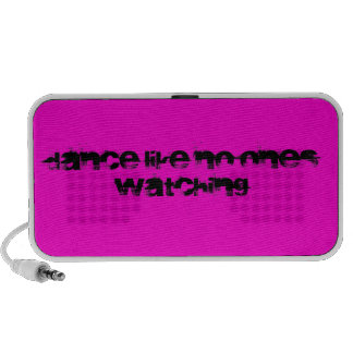Dance Like No One's Watching -Text Black  -  Pink iPhone Speaker