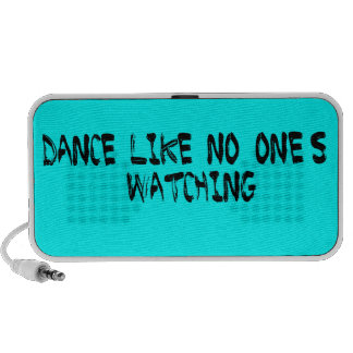 Dance Like No One's Watching Text - Brush Lt Blue iPod Speaker