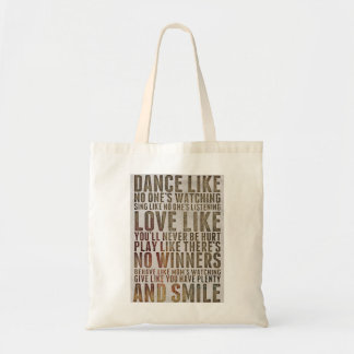 Dance Like Nobody is Watching Quote Tote