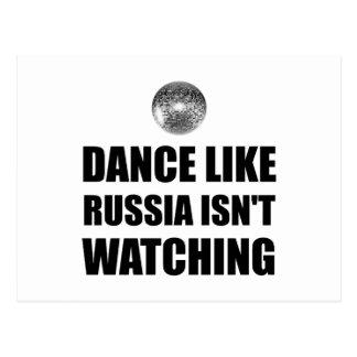 Dance Like Russia Not Watching Postcard