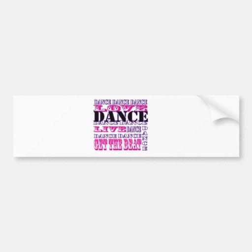 Dance Love Live Get The Beat Girls Apparel Bumper Sticker