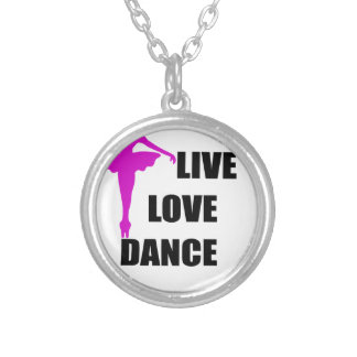 dance love live silver plated necklace