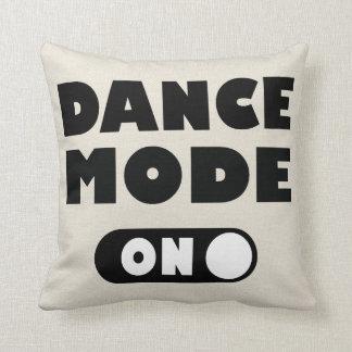 Dance Mode On Dancing Quote Tan / Gray Cushion